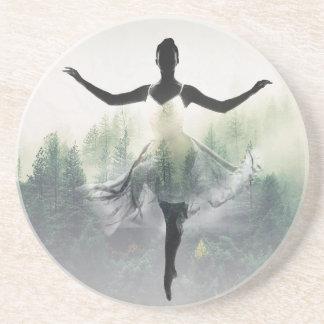 Porta-copos De Arenito Dançarino da floresta