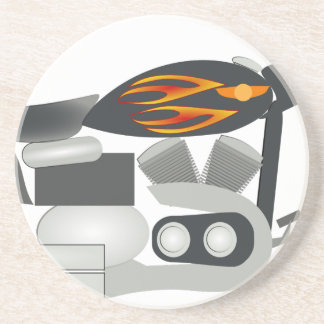 Porta-copos De Arenito Desenho da motocicleta