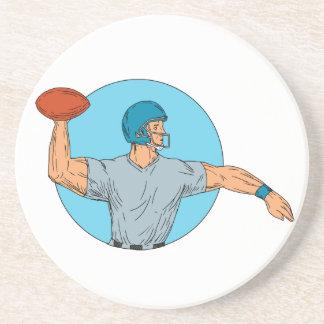 Porta-copos De Arenito Desenho de jogo do círculo do movimento da bola do
