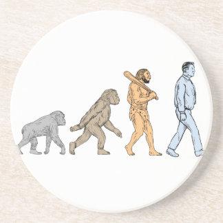 Porta-copos De Arenito Desenho de passeio da evolução humana