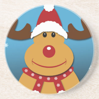 Porta-copos De Arenito Desenhos animados Rudolph os presentes do Natal da