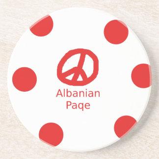 Porta-copos De Arenito Design albanês do símbolo de paz