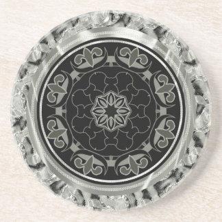 Porta-copos De Arenito Design celta ornamentado das cinzas de prata