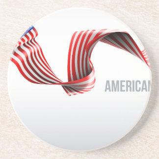 Porta-copos De Arenito Design da fita da bandeira americana