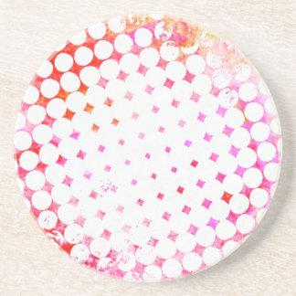 Porta-copos De Arenito Design de explosão cor-de-rosa da banda desenhada