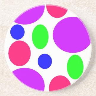Porta-copos De Arenito Design de néon dos círculos