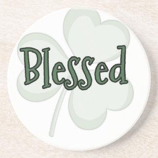 Porta-copos De Arenito Design do dia de St Patrick abençoado