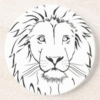 Porta-copos De Arenito design do vetor do desenho do leão