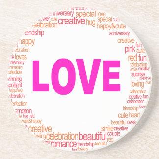Porta-copos De Arenito design legal do círculo do amor