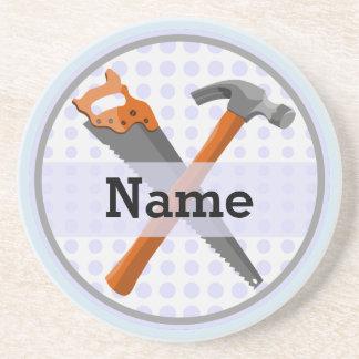 Porta-copos De Arenito Design personalizado nomeado das ferramentas para