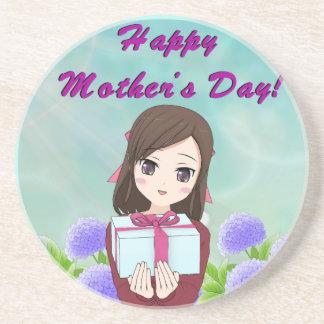 Porta-copos De Arenito Dia das mães atual