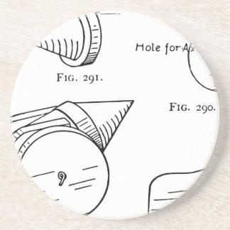 Porta-copos De Arenito Diagrama esquemático do fogo-de-artifício do