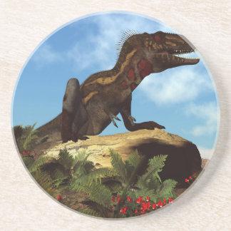 Porta-copos De Arenito Dinossauro de Nanotyrannus que descansa - 3D