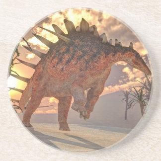 Porta-copos De Arenito Dinossauro do Kentrosaurus - 3D rendem