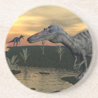Porta-copos De Arenito Dinossauros de Suchomimus - 3D rendem