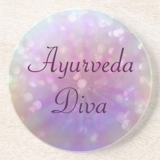 Porta-copos De Arenito Diva de Ayurveda