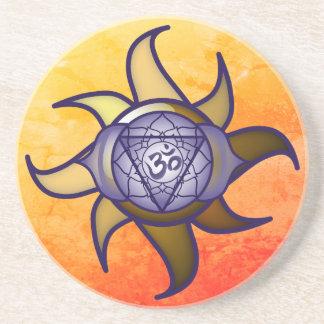 """Porta-copos De Arenito Do """"porta copos de Lotus da introspecção da ioga"""