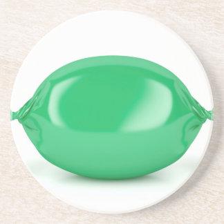 Porta-copos De Arenito Doces duros envolvidos verde