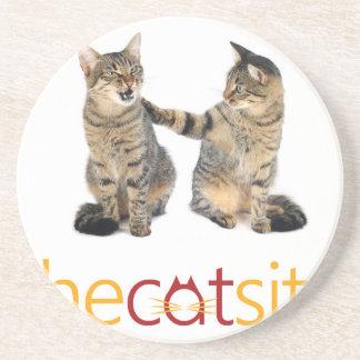 Porta-copos De Arenito Dois gatos
