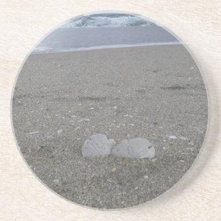 Porta-copos De Arenito Dólares de areia da praia