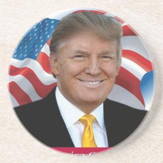 Porta-copos De Arenito Donald Trump faz o excelente de América outra vez