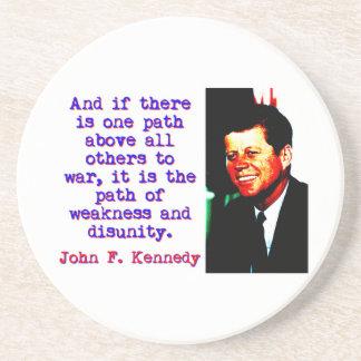 Porta-copos De Arenito E se há um trajeto - John Kennedy