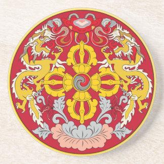 Porta-copos De Arenito Emblema de Bhutan (་ do རྟགས do ་ do ལས do ་ do