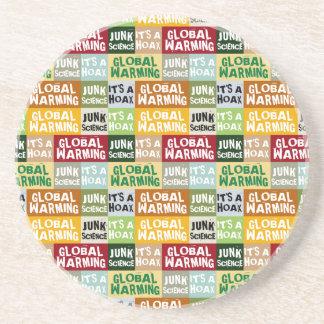 Porta-copos De Arenito Embuste do aquecimento global