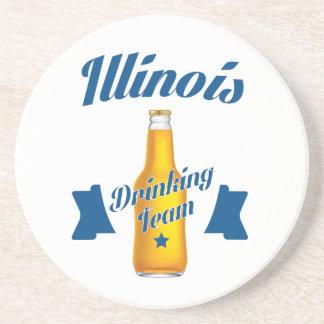 Porta-copos De Arenito Equipe do bebendo de Illinois
