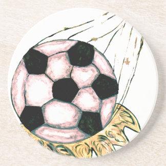 Porta-copos De Arenito Esboço da bola de futebol