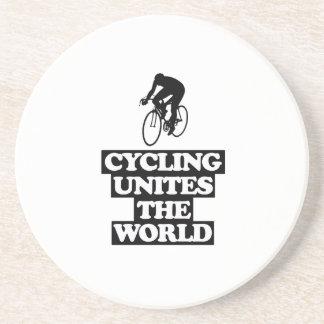 Porta-copos De Arenito esfrie e tendendo o DESIGN do ciclismo