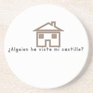 Porta-copos De Arenito Espanhol-Castelo