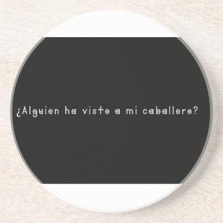Porta-copos De Arenito Espanhol-Cavaleiro