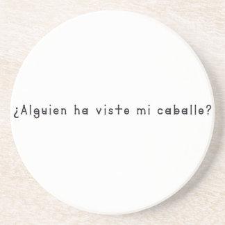 Porta-copos De Arenito Espanhol-Cavalo