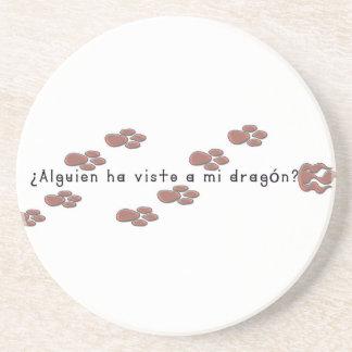 Porta-copos De Arenito Espanhol-Dragão