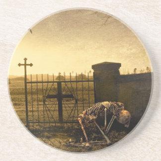 Porta-copos De Arenito Esqueleto no cemitério