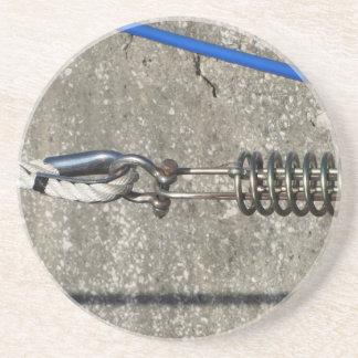 Porta-copos De Arenito Estilingue da corda com o grilhão de âncora da