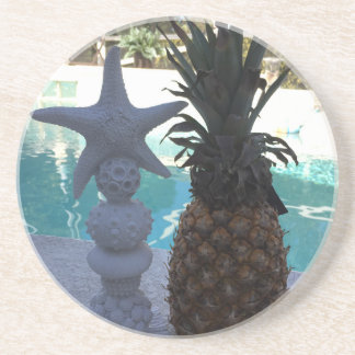 Porta-copos De Arenito Estrela do mar do abacaxi