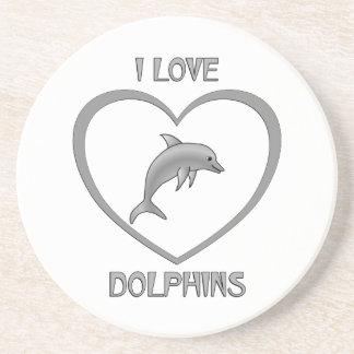 Porta-copos De Arenito Eu amo golfinhos