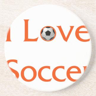 Porta-copos De Arenito Eu amo o futebol