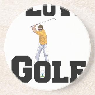 Porta-copos De Arenito Eu amo o golfe 01