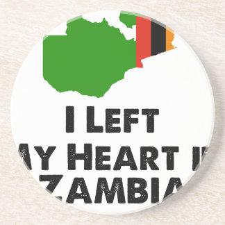 Porta-copos De Arenito Eu deixei meu coração na Zâmbia