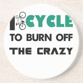 Porta-copos De Arenito Eu dou um ciclo para consumir a louca, bicicleta