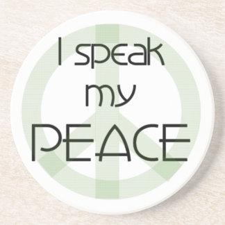 Porta-copos De Arenito Eu falo meus t-shirt e presentes da paz