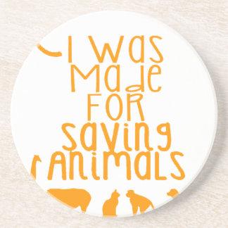 Porta-copos De Arenito Eu fui feito para animais de salvamento