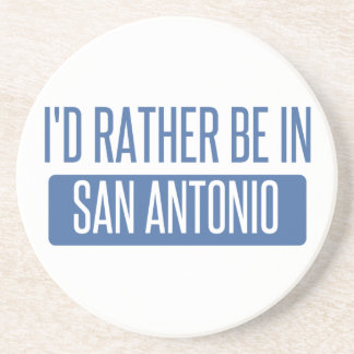 Porta-copos De Arenito Eu preferencialmente estaria em San Antonio