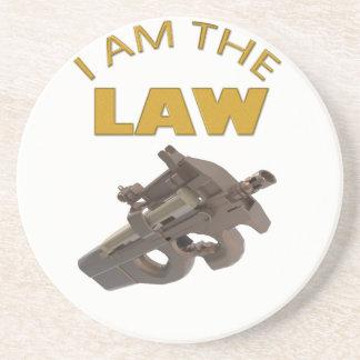 Porta-copos De Arenito Eu sou a lei com uma metralhadora m4a1