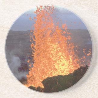 Porta-copos De Arenito explosão do vulcão da lava