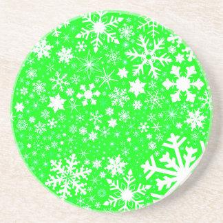 Porta-copos De Arenito Explosão verde do Natal