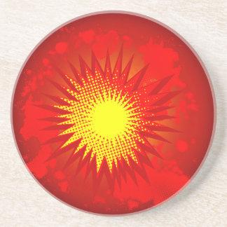 Porta-copos De Arenito Explosão vermelha dos desenhos animados